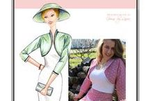 Sew Chic Pattern Victory Jacket #LN1414 : Womens Sewing Patterns / This #lined #bolero #jacket #pattern is one view that can be worn 2 ways, with the collar up. It's  a great #beginner #sewing #pattern, and #easy to fit.