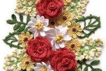 crochet FIORI / tanti tipi di fiori fatti ad uncinetto