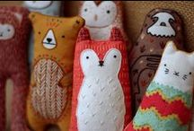 + Textile Toys + / Fiber toys. Plushies. Softees. Softies. Handmade toys and gifts. Fabric toys for kids.