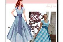 Sew Chic Pattern Ginseng Dress #1516 / #sew a fitted #1950's style #dress with #circle #skirt #princess #seams with contrast #cummerbund, #sash, and #ties www.sewchicpatterns.com/ginseng.html. / by Sew Chic Pattern Company