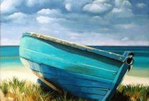 Boats and Buoys / Small wooden boats