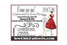 Sew Chic EVENT Posters / A collection of SEW CHIC PATTERN CO event posters, past, present, future. Come See Me! / by Sew Chic Pattern Company