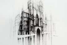 VIENNA / WIEN / Few small drawings from the capital city of Austria