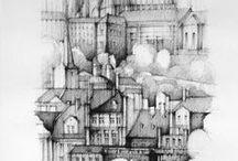 PRAGUE / Drawings and studies of Prague