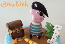Moldeh para 1er Cumple / Pasteles para festejar el primer Cumpleaños