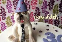 Moldeh de perritos / Cupcakes y pasteles con diseño de perritos.