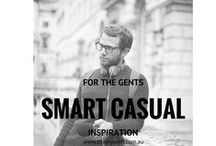 For The Gents - Smart Casual / An inspiration board to help define your personal / casual image. Pin the images that resonate with you.