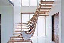 """ESCALERAS / """"Las sensaciones al ascender por una escalera pueden variar mucho: desde las diferentes posibilidades de diseñar las escaleras de una vivienda, hasta las posibilidades que ofrece una escalera en el exterior, por la que ascender o descender apenas requiere esfuerzo."""" Ernst Neufert"""