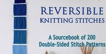 Knitting Bookstore / Information about our new book, Reversible Knitting Stitches, together with other knitting pattern e-books