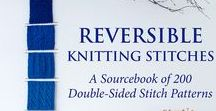"Reversible Knitting Stitches / Reversible stitch patterns are a way of taking your knitting to the next level. These versatile stitches can be used for scarves, shawls, placemats, rugs & more. ""Reversible Knitting Stitches"" is an innovative book with 200 double-sided stitch patterns. Each sample has a full description, photos of both sides, stitch charts & line-by-line instructions. ​"