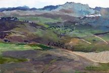 Ed Dunn paintings / Landscape paintings by Ed Dunn in and around the Preseli mountains in West Wales