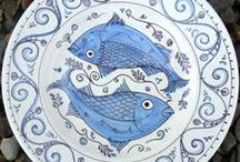 hand painted plates / Maiolica plates painted by Carlo Briscoe www.painted-plates.co.uk