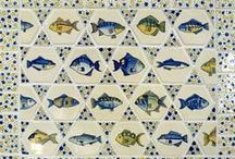 fish tiles / Hand painted Fish tiles by Reptile Tiles