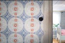 decorated walls, floors, ceilings & stairs  / Tiles, frescoes, mosaics, wallpaper, carving....