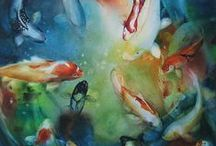 Art: Watercolor / Various styles of Watercolor paintings. / by Angie Ramos