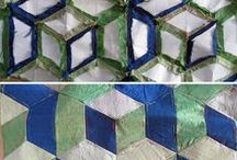 paper piecing / English paper pieced quilts