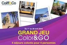 COLOR & GO ! / Envie de changement, de couleurs, envie d'ailleurs, laissez-vous portez par nos inspirations ! Et surtout n'oubliez pas de participer ! Coiff&Co vous offre 4 voyages de 3000 euros !
