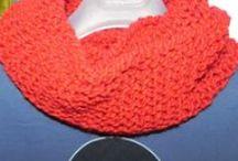sciarpe unisex fatte a mano / sciarpe uomo-donna realizzate a maglia