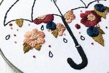 bordados, tricôs e crochês / inspirações e moldes