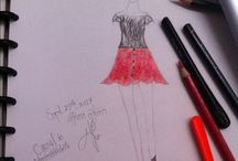 #meSketching / I luv to sketching/ designing my own clothes. You can share your ideas here or even post yours ^_^