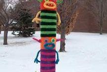 yarn bombing, guerrilla knitting