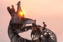 Burning Man - Sun, sculptures & desert )*( burningman / #burningman #blackrockcity