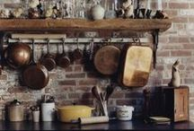 Rustic Kitchen / The dream is a rustic country kitchen filled with home grown fruit, vegetables and herbs. It's also fun for me to pin things I think I could probably make.