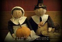 Thanksgiving /  Primitive Pilgrim Dolls Turkeys and Thanksgiving Decorating