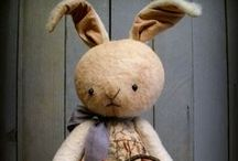 Spring is Here / Primitive Rabbits and collectibles
