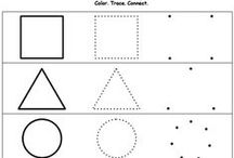 Shapes Worksheets / PRESCHOOL AND KINDERGARTEN SHAPES PRINTABLE WORKSHEETS for teachers and homeschool parents. Teach basic shapes such as circle, square and oval as well as more advanced geometric shapes like rectangles, triangle, and pentagon. For more printable worksheets, visit https://www.myteachingstation.com/.