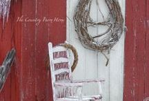 Christmas Outdoors / Dress up the yard and porch for Christmas