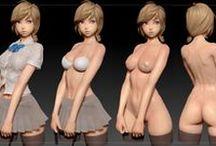 01_Girl 3D