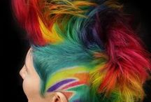 Colourful hair (multicolour)