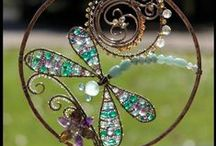 Re-Scape Chimes, Sun Catchers, Dream Catchers / Inspired ReCycling for creating chimes, sun-catchers, dream catchers and hanging decorations for interiors and exteriors. / by Re-Scape.com