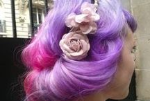 Colourful hair (pinky purples)