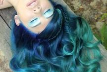 Colourful hair (greeny blues)