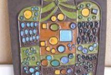 Renate Rhein / Wanddekoration: Wandplatte keramik von Renate Rhein vor Rosenthal