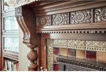 mantels / inserts/ tiles in old houses / mantels, chimneys and fireplace tiles