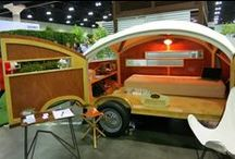 Re-Scape on the Road / Re-Scape would eventually like to take Inspired Recycling on the road, going town to town across the country to inspire recycling in each community. Here's a whimsical look at vehicles they would like to travel in! It's good to dream!