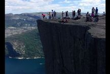 Hiking Pulpit Rock - Norway!! / Thanks to Pinterest, I found an unbelievable picture of Pulpit Rock. I knew I just HAD to hike this while in Norway. Here are the pics from that adventure!