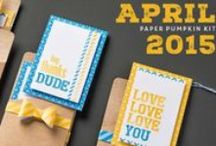 Paper Pumpkin April 2015 - Love You a Lot / April 2015 Paper Pumpkin Kit