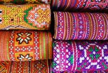 Colourful & Exquisite Fabrics / Design junkie celebrates the originality of each ancestral embroidery technique.