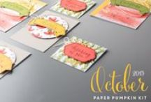 Paper Pumpkin October 2015 - Blissful Bouquet / October 2015 Paper Pumpkin kit