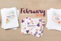 Paper Pumpkin February 2016 - Hello Sunshine / February 2016 Paper Pumpkin kit