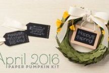 Paper Pumpkin April 2016, Lovely Little Wreath / April 2016 Paper Pumpkin Kit