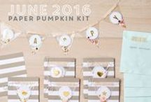 Paper Pumpkin June 2016 - Banner Surprise / June 2016 Paper Pumpkin Kit
