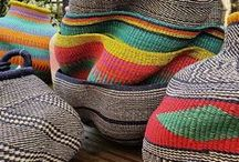 Baskets and fans from Ghana