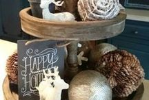 Winter + Christmas Decor / For when you want the outside snow and pine trees indoors... this board has all the best Christmas and Winter decor inspiration. DIY, rustic, home, cozy, outdoor, ideas, living room, porch, vintage, table, kitchen, wreath, stockings, greenery, ornaments, mantel, natural, plaid, garland, front door, homemade, woodland, cabin