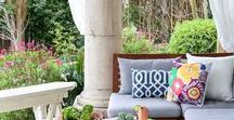 Outdoor Patio / Adding to your living space with an updated outdoor patio. #outdoors #patio #spring #springdecorating