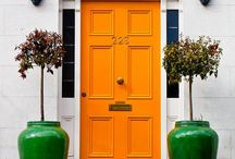 Front door colour / What is the best colour for a front door on a sandstone bungalow with terracotta tiles?